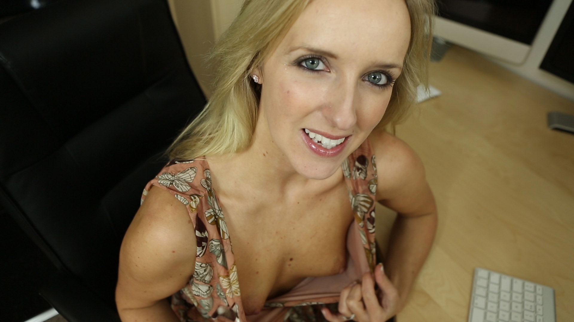 Anna joy is a horny secretary fingering her wet pussy 3