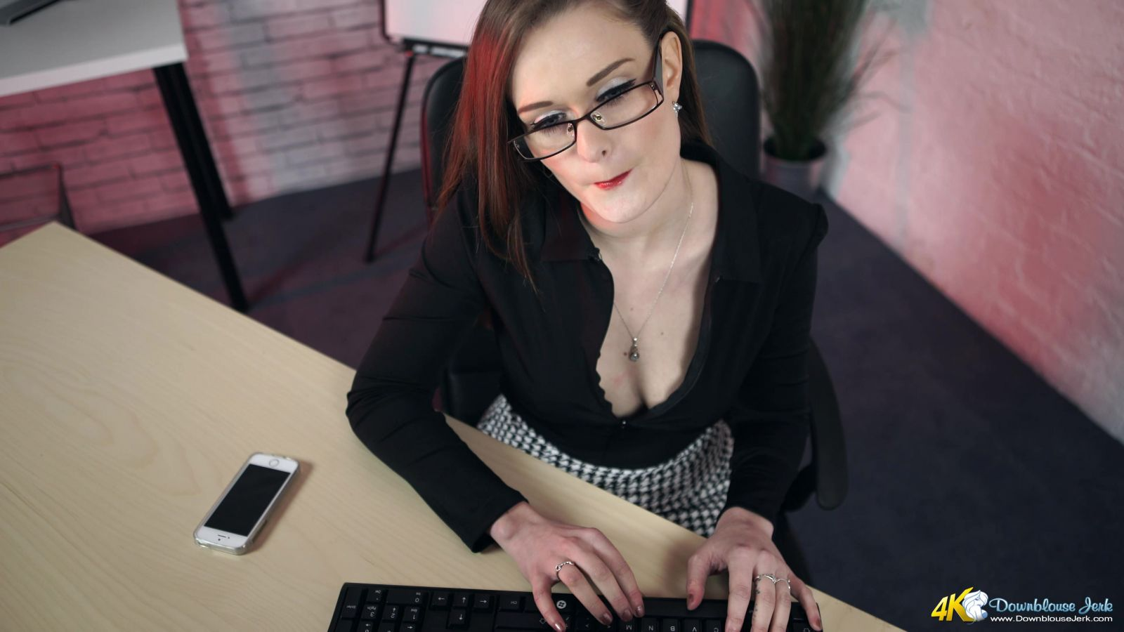 Honour May Office Voyeur Wank 108