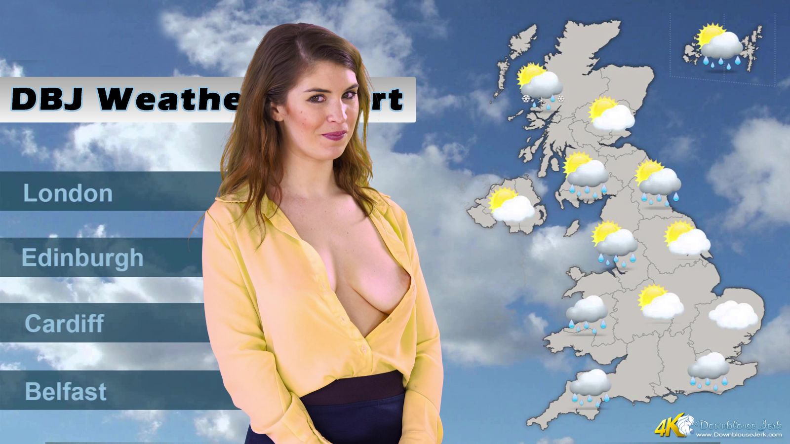 Weathergirl jerk no cum